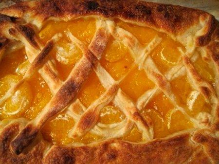 Тыквенный пирог с мандаринами