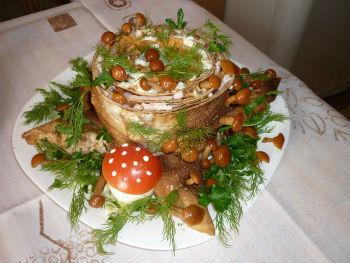 Вкусный салат «Пенек»