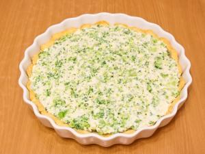 Пирог с рикоттой, брокколи и сыром