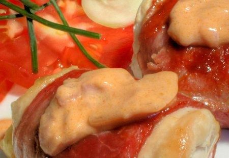 Рецепт рулетиков из куриного филе
