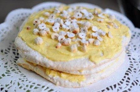 Торт с ореховой меренгой (Dacquoise)