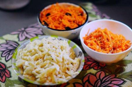 Ремулад с сельдереем и морковным салатом