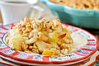 Яблочно-грушевый крисп на завтрак
