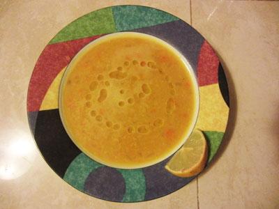 Постный чечевичный суп пюре