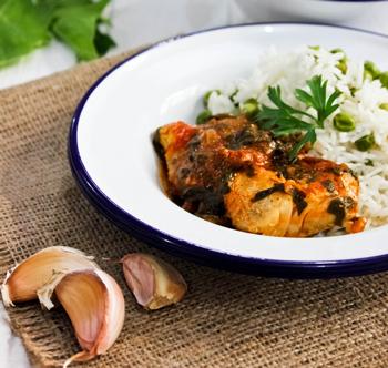 Азиатская курятина со шпинатом