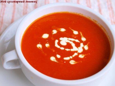 Томатно-яблочный суп