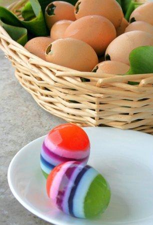 Желейные яйца к Пасхе