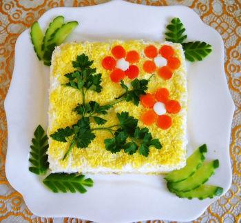"""Крабовый салат """"Мимоза"""""""