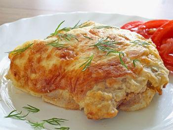 Мясо по-французски с картошкой и овощами