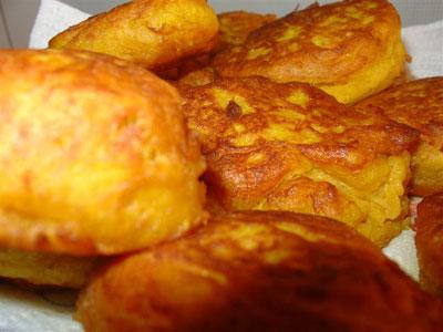 Картофельно-тыквенные оладьи