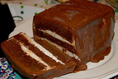 Шоколадный торт-мороженое