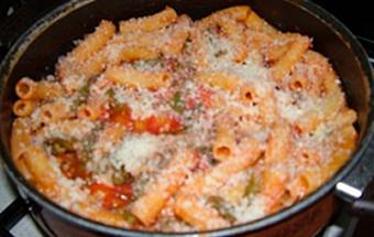 Спагетти с фасолью и соусом