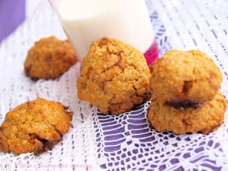 Овсяное печенье с ириской
