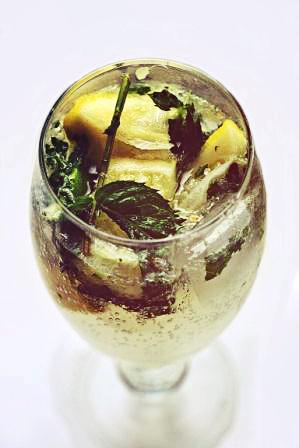 Безалкогольный мохито со спрайтом