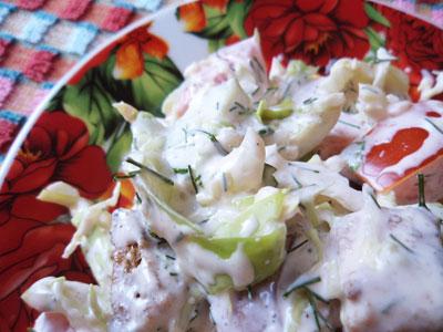 Овощной салатик с сухариками
