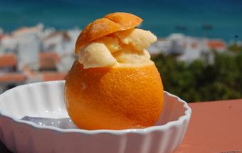 Апельсиновое мороженое
