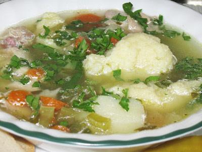 Суп картофельный с галушками