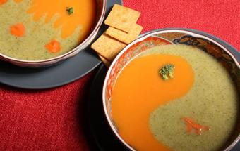 Суп-пюре «Инь-Янь»