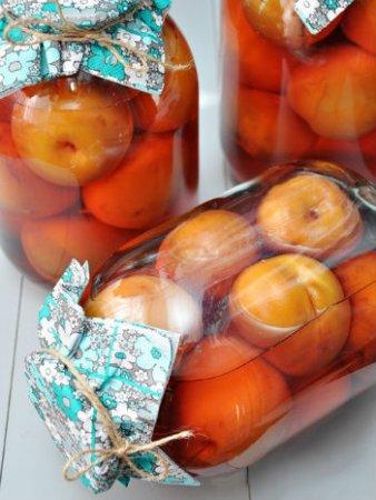 Компоты из персиков и нектаринов на зиму