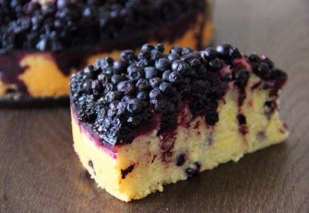 Тосканский пирог с черникой
