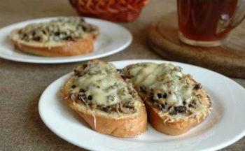 Бутерброды с сыром и баклажанами
