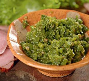 Аджика из зелени и перца