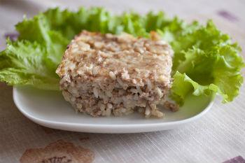 Запеканка мясная с рисом в мультиварке