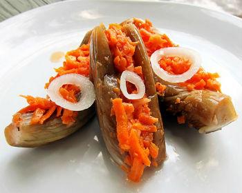 Баклажаны на зиму с морковью