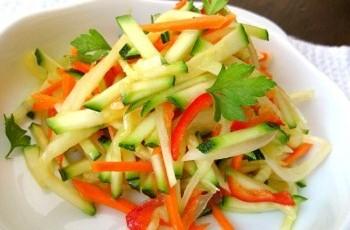 Салат из кабачков цуккини на зиму
