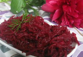 Свекольный салат литовский на зиму