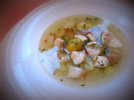 Осенний, ароматный суп с каштанами