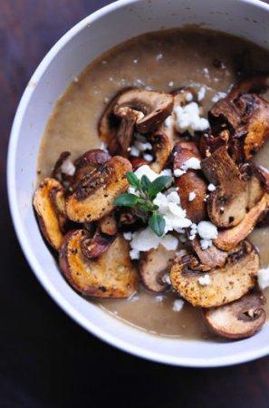 Вегетарианский грибной суп-пюре