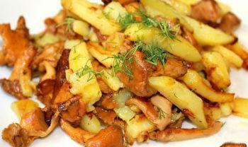 Рыжики жареные с луком и картошкой
