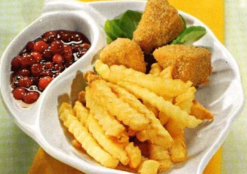 Быстрый обед из картофеля фри с сыром