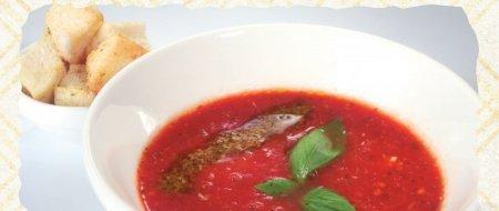 Суп-пюре томатный – блюдо вкусное и лёгкое