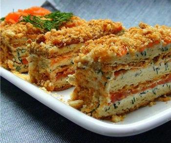 Слоеный салат-торт «Наполеон»