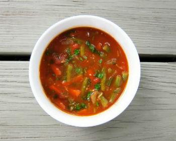 Суп с бараниной и стручковой фасолью