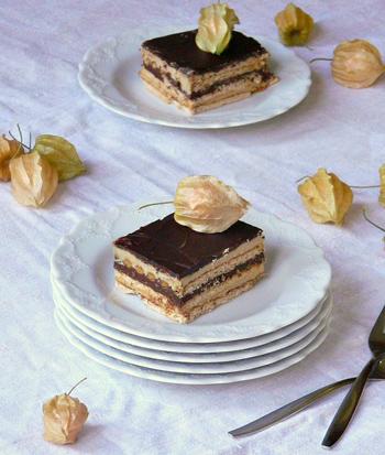 Бисквитный торт с ванилью, ганашем и шоколадом