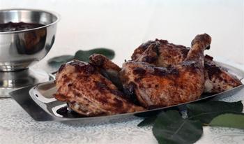 Курица под вишневым соусом