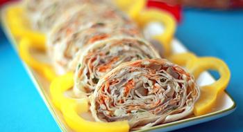 Рулетики с корейской морковкой