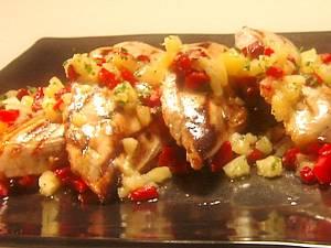 Куриные грудки с ананасом