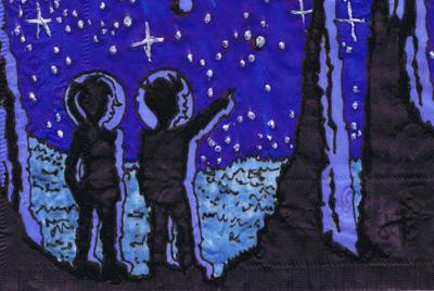 Родители рисуют на салфетках для своих детей
