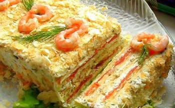 Пирог из лососины со сливочным сыром