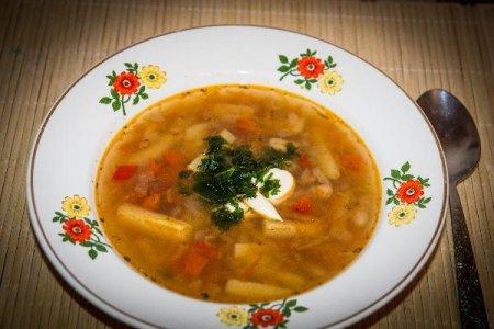 Овощной фасолевый суп