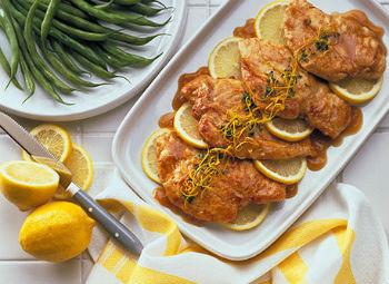 Куриное филе в лимонной глазури
