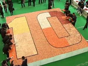 В Гонконге из суши собрали мозаику площадью 38 квадратных метров