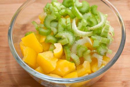 Стир-фрай из индейки с овощами
