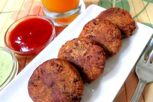 Котлеты вегетарианские с томатным чатни