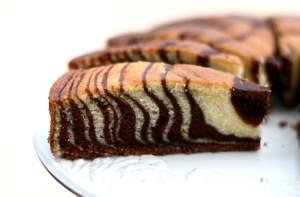 Торт Зебра со сметанным кремом