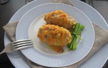 Вегетарианские ленивые голубцы в духовке